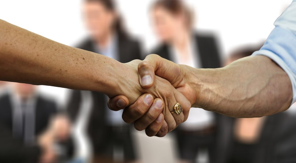 Shaking hands Building trust